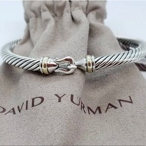 David Yurman silver with gold clasp bracelet